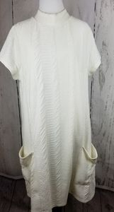 Cato Winter White Mock Turtleneck Dress Size XL